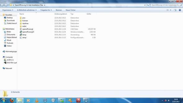 Im Ordner schaut es so aus und es funktioniert kein einziges setup - (PC, Internet, Installation)