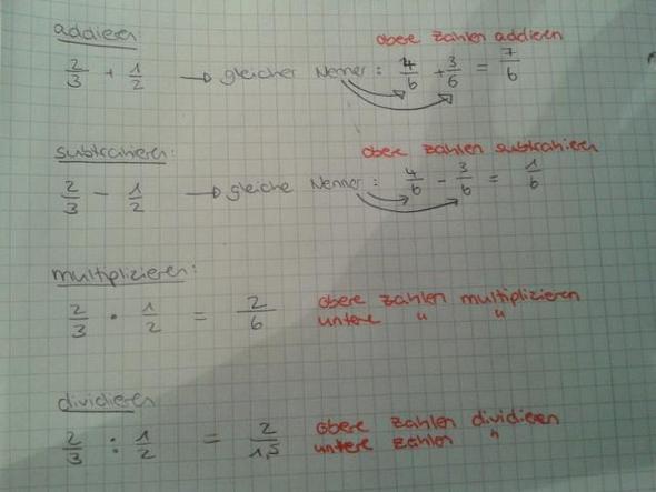 bruch rechnen - (Mathematik, Bruch, Bruchrechnung)