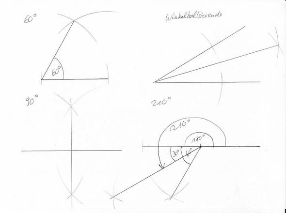 30 Grad Winkel Konstruieren : wie konstruiert man einen winkel ohne geodreieck daf r aber mit zirkel und lineal mathe ~ Frokenaadalensverden.com Haus und Dekorationen