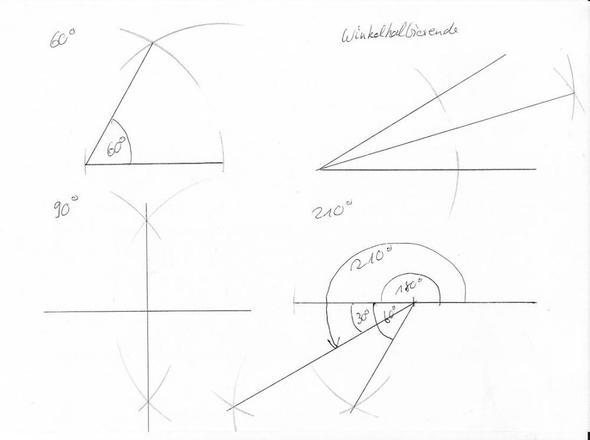 Wie konstruiert man einen Winkel ohne Geodreieck dafür