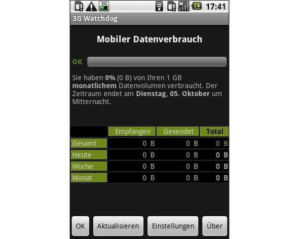 Screenshot der App im Einsatz ;D - (Internet, Handy, Geld)