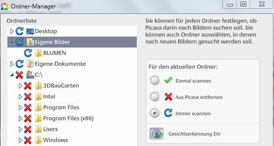 Arbeiten mit Ordnermanager bei Picasa 3 - (Computer, Foto, Picasa)
