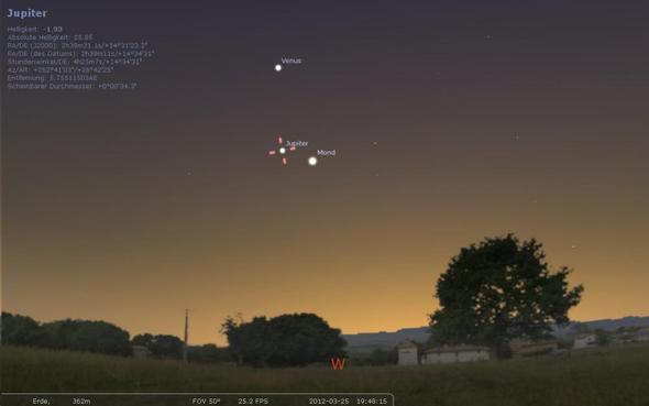 Abendlicher Westhimmel - (Wissenschaft, Astronomie)
