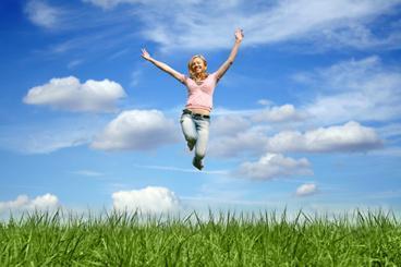 Wenn du fit genug bist ... dann machst du ... einen Luftsprung - (Depression, müdigkeit, Traurigkeit)