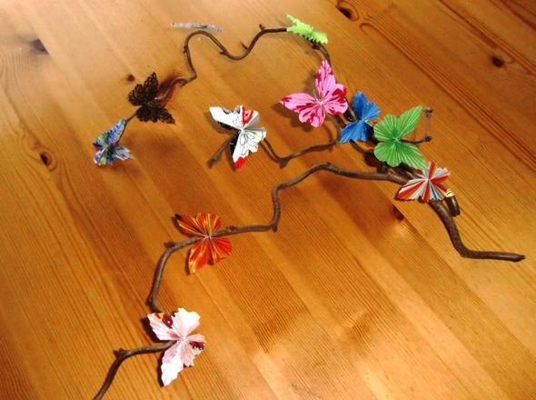 Schmetterlinge  - (basteln, Kreativität, kreativ)