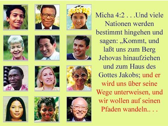 Menschen aus allen Nationen und jeder Herkunft schließen sich uns an - (Religion, Glaube, Sekte)
