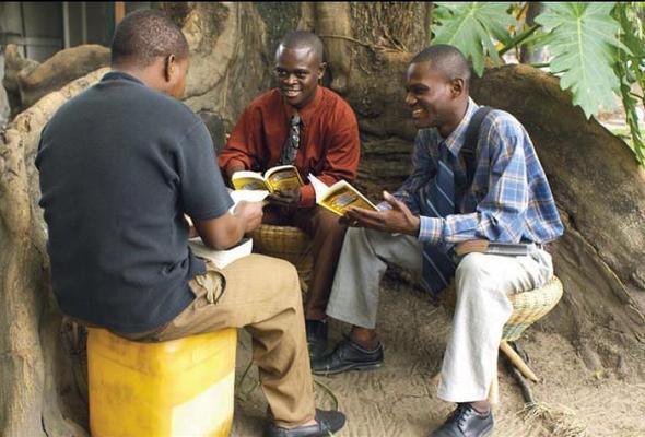 Ein Bibelstudium in der Republik Kongo - (Religion, Glaube, Sekte)
