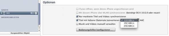 AAC 128 - (iPhone, Apple, Programm)