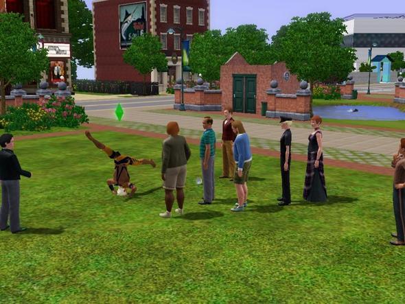 Akrobat spielt für Trinkgeld - (online, Sims 3, spielen)