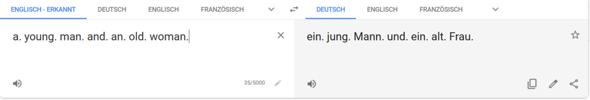- (Sprache, Übersetzung)