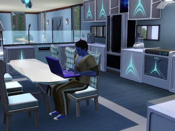 Dschinn beim Hacken - (Sims 3, Sims)