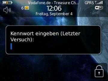 BlackBerry Kennwort 10x eingegeben - Letzter Versuch - (Handy, Passwort, Blackberry)