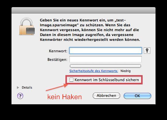 Image Kennwort - (Apple, Mac, Festplatte)