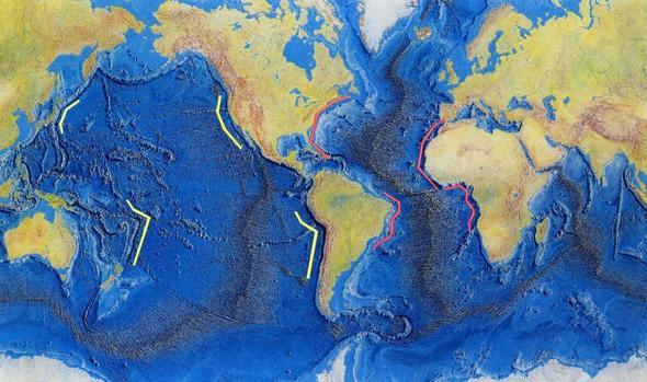 Das Relief der Ozeanböden - (Freizeit, Wachstum, Erdkunde)