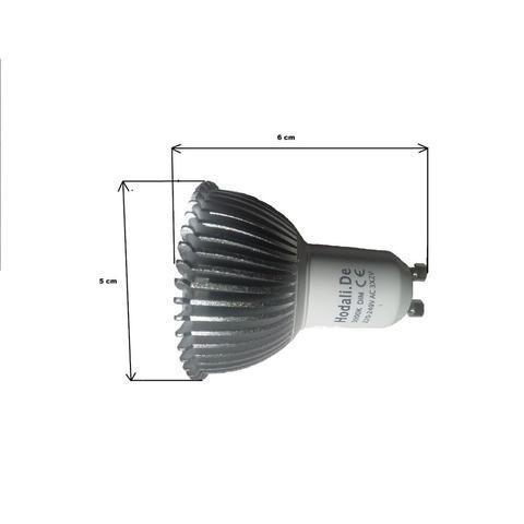 GU10 LED Leuchtmittel mit 550 Lumen 60 x 50 mm - (Elektronik, Elektrik, Elektrotechnik)