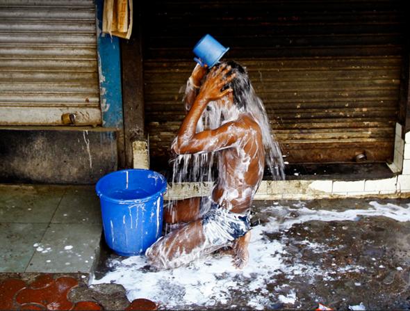 Leidenschaftliche Indische Dusche
