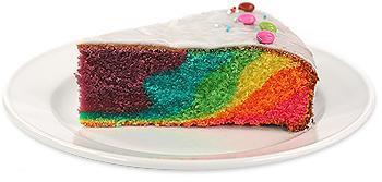 Bunter Regenbogenkuchen - (Rezept, Kuchen)