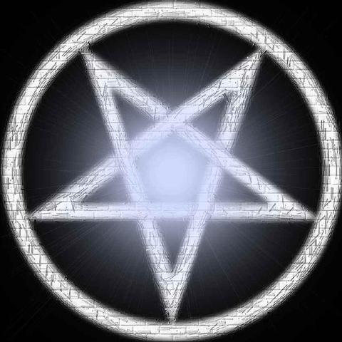 Pentagramm beschwörend - (Freizeit, Geister, Beschwörung)