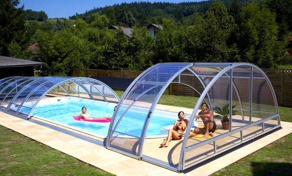 Pool im garten mit überdachung  Poolheizung oder solardecke für 305 cm pool? (Haus, Garten)