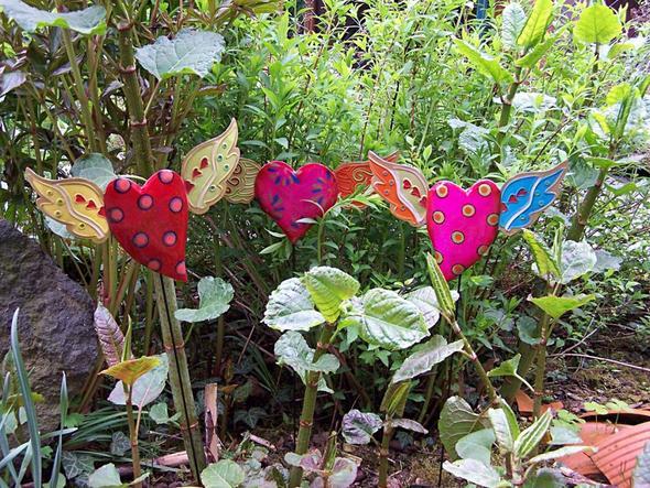 Suche sch ne gartenstecker in herzform f r muttertag for Gartenstecker selber basteln