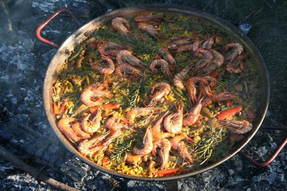 Paella Meeresfrüchte - (paella, rundkornreis)