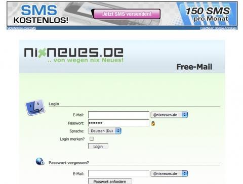 nixneues.de - LOGIN - Bequem mit merken Button - (Internet, Email, Emailadresse)