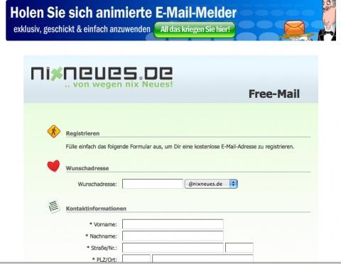 nixneues.de - Registration - (Internet, Email, Emailadresse)