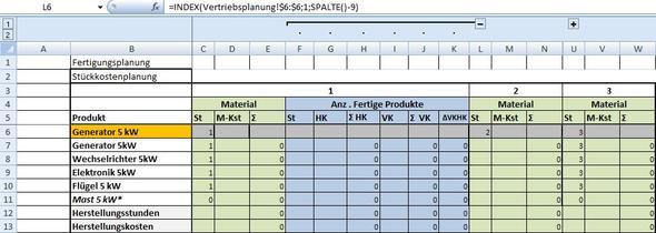 Zieldatei, in der die Werte übernommen werden sollen - (Computer, Excel, Tabelle)