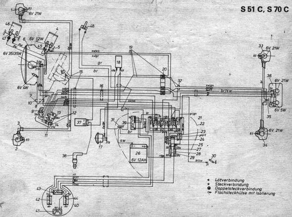 simson sr50 umklemmen auf dauerlicht motorrad roller ddr. Black Bedroom Furniture Sets. Home Design Ideas