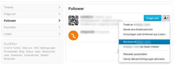 Twitter Follower blockieren - (eBay, Twitter, Follower)