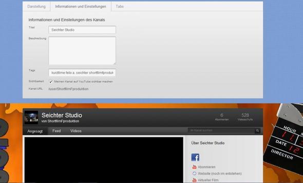 kanaleinstellungen - (Youtube, Name, Google)