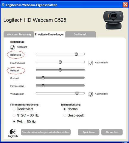 Bildeinstellungen - (Bilder, Webcam)