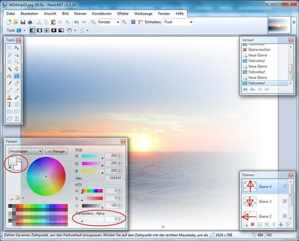 how to add transparent paint photoshop