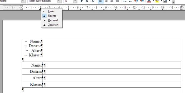 - (Word, OpenOffice, Dokumente)