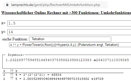 - (Mathe, Tetration)