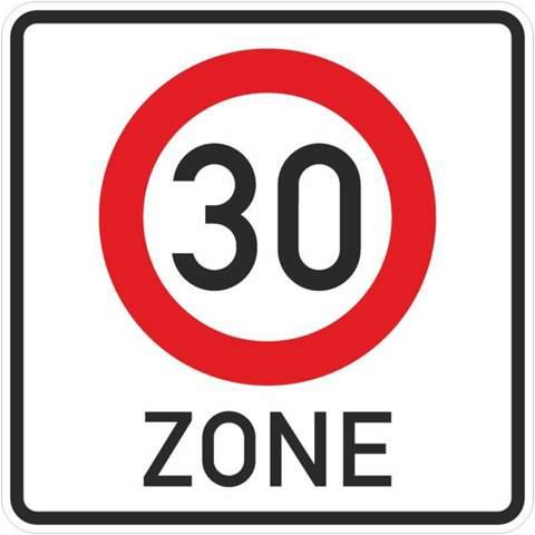 - (Auto und Motorrad, Verkehr, Geschwindigkeitsbegrenzung)