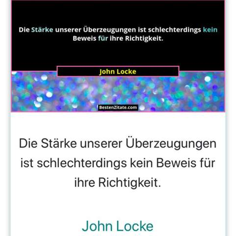 Can someone briefly describe the conviction of John Locke?