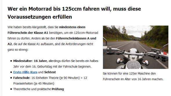 - (Führerschein, Motorrad, Sehtest)
