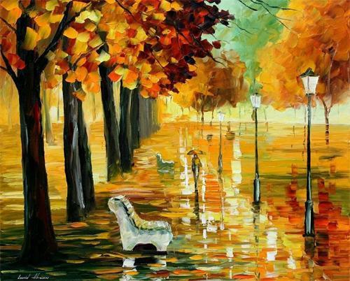leonid afremov-Herbstbilder - (Kunst, Hobby, malen)