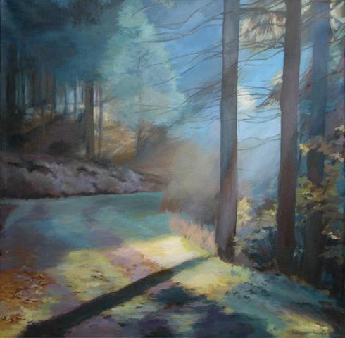 Thüringer Wald - in Acryl gemalt - (Kunst, Hobby, malen)