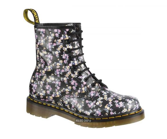 dr martens mit blumen mode schuhe laden. Black Bedroom Furniture Sets. Home Design Ideas