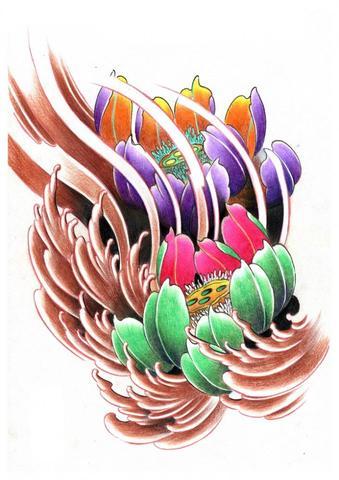 flower tattoo color - (Internet, Freizeit, Tattoo)