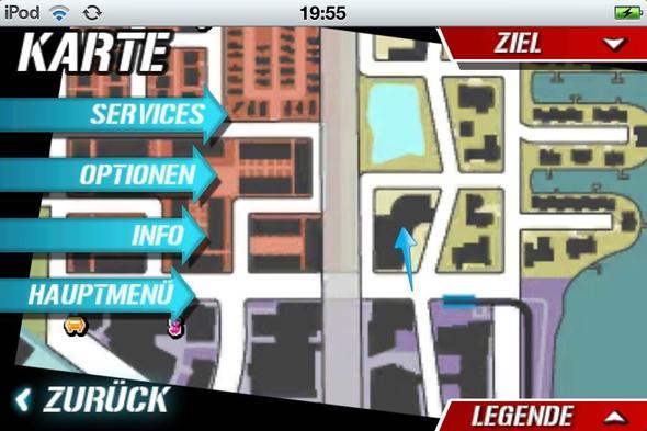 Da Sieht Man Den Blauen Pfeil Und Der Zeigt Auf Die Polizeistation - (Freizeit, Spiele, Games)