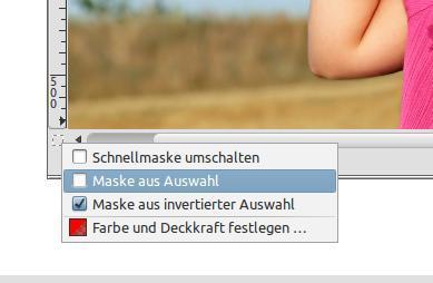 """Schnellmaske auf """"Maske aus Auswahl"""" umstellen - (Bilder, Foto, Fotografie)"""