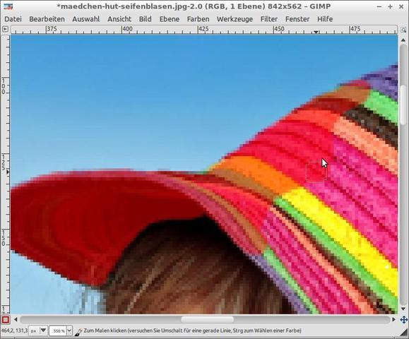 Mit Pinselwerkzeug den gewünschten Bereich maskieren - (Bilder, Foto, Fotografie)