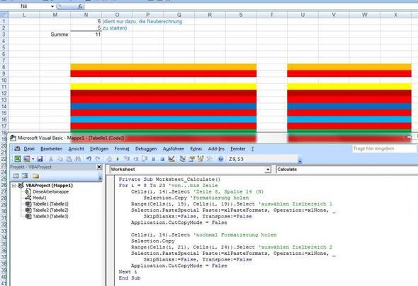 Makro ändert Farben - (Microsoft, Excel)