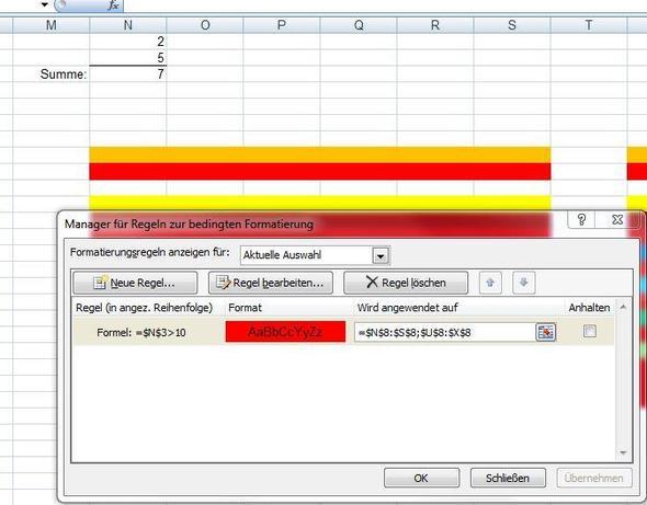bedingteFormatierung - (Microsoft, Excel)