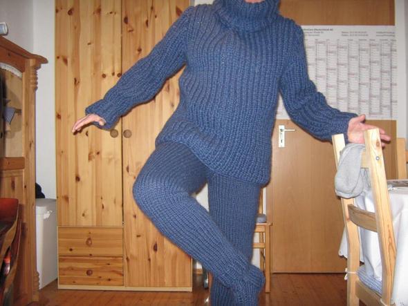Leggins aus Alafoss-Lopi - (stricken, Wolle, Strumpfhose)