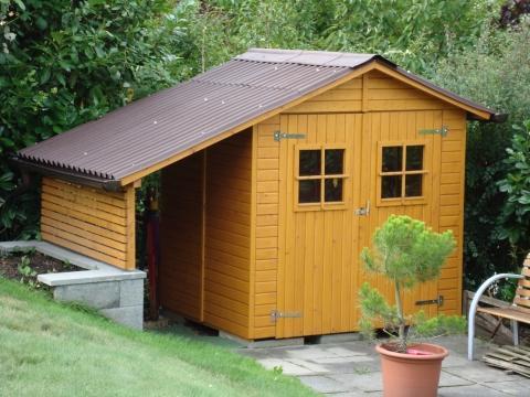 4 Jähriger Anstrich mit der erwähnten Empfehlung - (Farbe, gartenhaus, holzschutz)