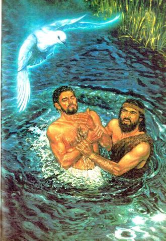 Johannes Tauft Jesus